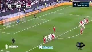 لحظهی مهار پنالتی تیم عمان توسط بیرانوند