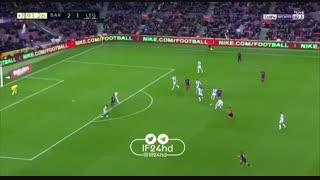 گل سوم بارسلونا به لگانس توسط مسی