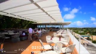 02126207536 طراحی و فروش جدیدترین سقف های برقی متحرک برای رستوران و کافه و غذاخوری