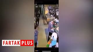 اقدام ناجوانمردانه مرد جوان در فروشگاه!