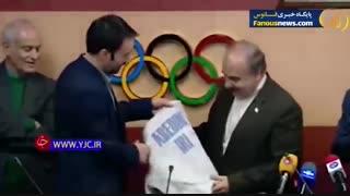 پاسخ جالب عابدینی به گونی خطاب کردن لباس شمشیربازی توسط وزیر ورزش!