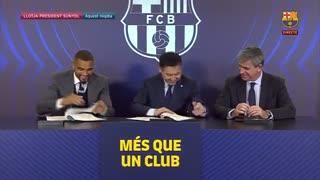 مراسم کامل معارفه کوین پرینس بواتنگ بازیکن جدید بارسلونا