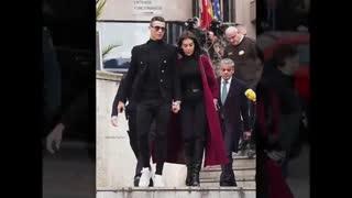 حضور رونالدو و نامزدش در دادگاه شهر مادرید