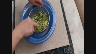 آموزش آشپزی - کوکوی کدو سبز