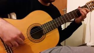 تنهاترین عاشق از رضا روح پور با گیتار نت و تبلچر بهنام