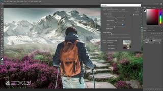 هماهنگ کردن رنگ در ترکیب عکس با فتوشاپ آموزش فارسی