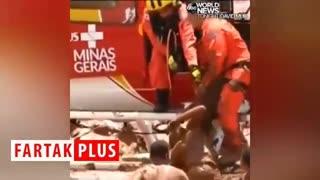 تلاش نیروهای امدادی بزریل برای نجات مردم