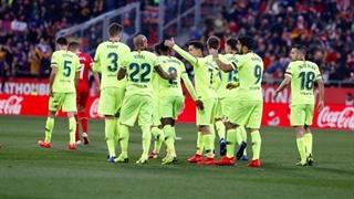 گل دوم بارسلونا به خیرونا توسط لیونل مسی