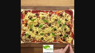 طرز تهیه پیتزای گیاهی حلقه ای خوش طعم  - سبزی لاین
