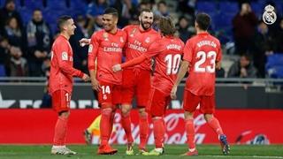 گل سوم رئال مادرید به اسپانیول توسط کریم بنزما