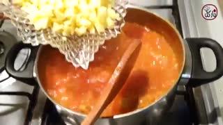 طرز تهیه سوپ مرغ و رشته فرنگی برای شب های زمستانی  - Noodle Soup with Chicken, with Nargol