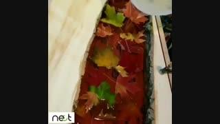 خلاق باشیم با برگ های پاییزی زیبایی  خلق کنیم | nect.ir