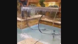 نازل پرده آب مولتی کالر/آبنما آبشاری