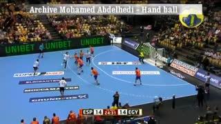 دیدار تیم های ملی اسپانیا و مصر در هندبال قهرمانی جهان ۲۰۱۹