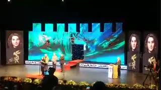 حرفهای فاطمه معتمدآریا در مراسم بزرگداشتش (افتتاحیه جشنواره فیلم فجر)