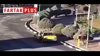 لحظه تیراندازی راننده تاکسی با ژ۳ به شهرداری هشتگرد!
