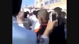 عزاداری جوانان عربستان کنارقربستان بقیع