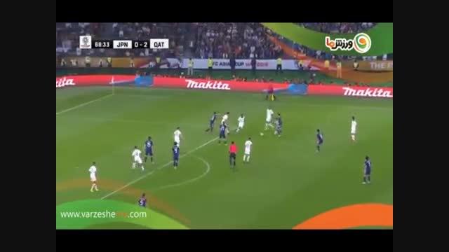 خلاصه بازی ژاپن 1 - قطر 3 (12-11-1397)
