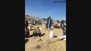 [ Video ] واژگونی تریلی گندم در جاده سیرجان بندرعباس و باز هم کمک رسانی سریع