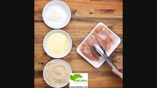 نحوه تهیه یه غذای سالم با تکه های مرغ و سبزیجات تازه - سبزی لاین
