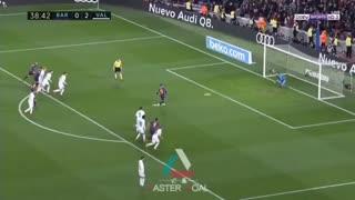گل اول بارسلونا به والنسیا توسط مسی پنالتی