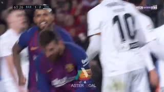 گل دوم بارسلونا به والنسیا توسط مسی