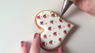 کوکی گل رز ولنتاین