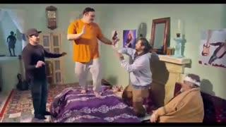 رقصیدن مهران غفوریان و علی صادقی و پوریا پورسرخ باهم