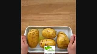 طرز تهیه سیب زمینی خامه ای خوش طعم - سبزی لاین