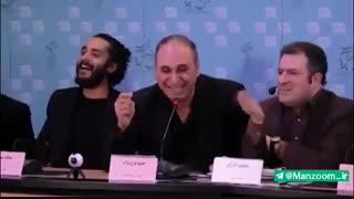 سوتی بزرگ سیاسی حمید فرخ نژاد در نشست خبری «گشت ارشاد 2»
