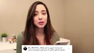 اجرای چالش های درخواستی طرفداران توسط یک دختر