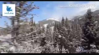اسکی در دریاچه لویز کانادا