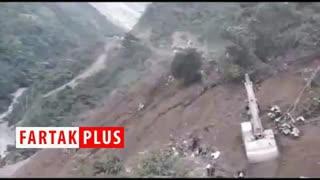 لحظه وقوع رانش زمین در بولیوی