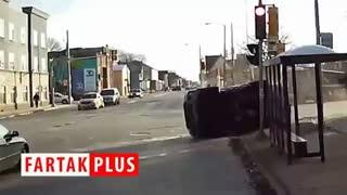 اقدام فوری راننده اتوبوس برای نجات جان سرنشینان یک خودرو