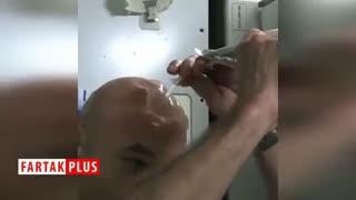 حمام کردن به شیوه فضانوردان