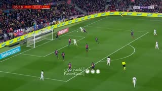 گل اول رئال مادرید به بارسلونا توسط وازکز