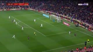 خلاصه دیدار بارسلونا 1_1 رئال مادرید (بازی رفت نیمهنهایی جام حذفی اسپانیا)