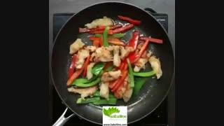 طرز تهیه مرغ چیلی ساده - سبزی لاین