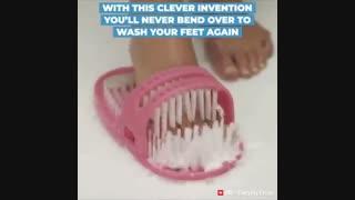 شستشو  پا بدون خم شدن