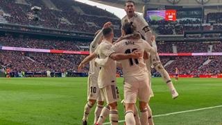 گل سوم رئال مادرید به اتلتیکو مادرید توسط گرت بیل