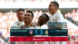 خلاصه بازی اتلتیکو مادرید 1_3 رئال مادرید (هفتۀ بیستوسوم لالیگا اسپانیا)