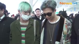 [Video/MediaCam] BTS at Incheon Airport HeadingTo LA [190209]