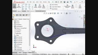 آموزش سالیدورک solidworks 2019 مدلسازی سه بعدی شاتون