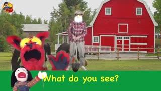 What Do You See Song /حیوانات مزرعه/Learn English Kids