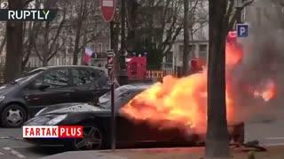 پورشه ای که از اعتراضات جلیقه زردها در پاریس در امان نماند