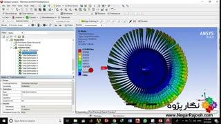 نگار پژوه :: تحلیل مکانیکی  دیسک و پرهMechanical analysis  Blade-disk in ansys