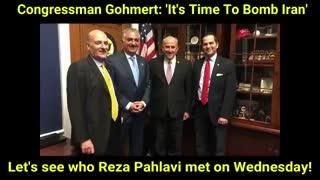 رضا پهلوی در کنار لویی گومرت، که از حامیان مهم خروج دولت ترامپ از برجام بود...