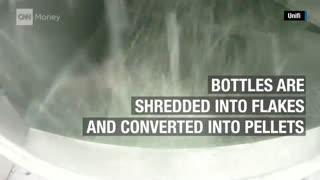 مراحل تبدیل بطری پلاستیکی نوشیدنی به پوشاک