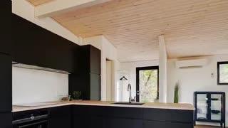طراحی داخلی خانه ای مدرن در دل طبیعت...