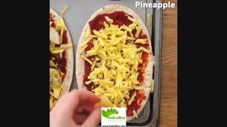 طرز تهیه پیتزای پیتا - سبزی لاین